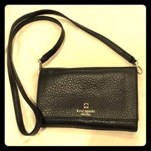Kate Spade Black Leather Crossbody Bag Wallet
